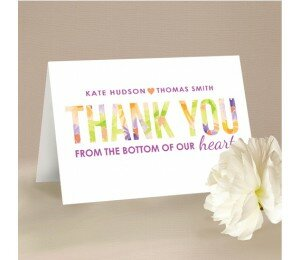 Flower Bed Thank You Card