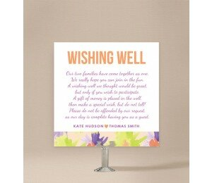Flower Bed Wishing Well Card