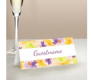 Flower Bed Wedding Place Card