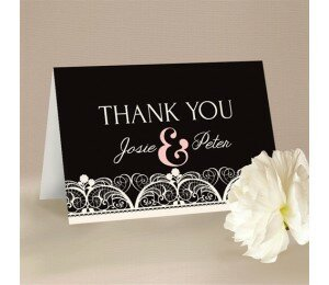 Lacey Lace Thank You Card