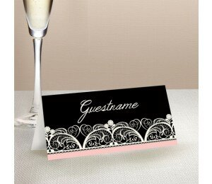 Lacey Lace Wedding Place Card