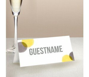 Love Bubble Wedding Place Card