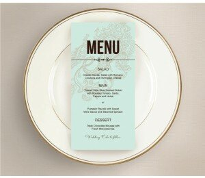 Paisley Wedding Menu