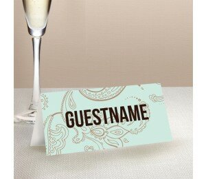 Paisley Wedding Place Card
