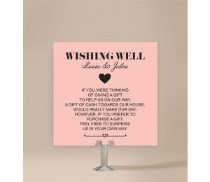 Photo Heart Wishing Well Card