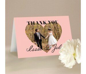 Photo Heart Thank You Card