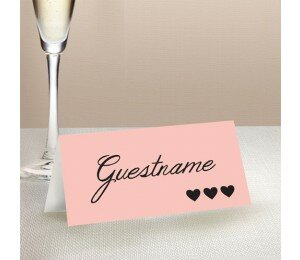 Photo Heart Wedding Place Card