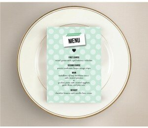 Polaroid Wedding Menu