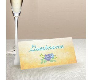 Posies Wedding Place Card
