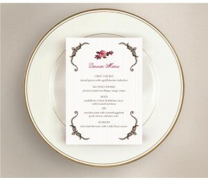 Prairie Wedding Menu