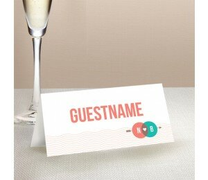 Two Circles Wedding Place Card