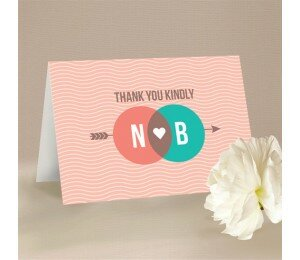 Two Circles Thank You Card