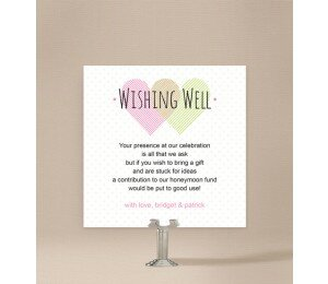 Two Hearts Wishing Well Card