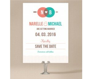 Two Circles Save The Date Cards