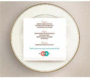 Two Circles Wedding Menu