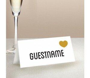Typo Wedding Place Card