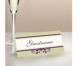 Winery Wedding Place Card