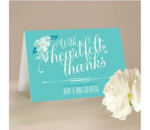 With Joyful Hearts Thank You Card