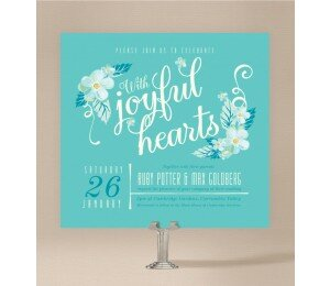 With Joyful Hearts Wedding Invitations