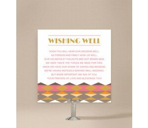 Aztec Wedding Wishing Well Card