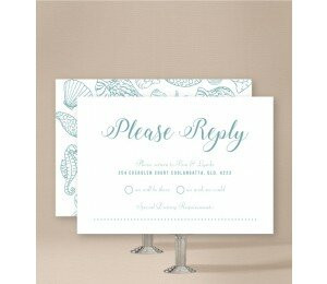 Beach Days Wedding Response Card