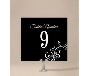 Black and White Table Numbers