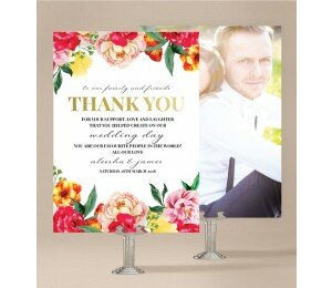 Bright Blooms Wedding Thank You