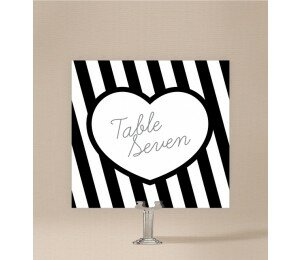 Bold Stripes Table Numbers