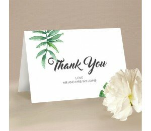 Botanic Wedding Thank You Card