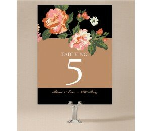 Bouquet Table Numbers