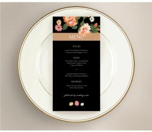 Bouquet Wedding Menu