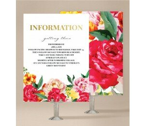 Bright Blooms Information Card