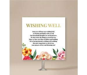 Bright Blooms Wishing Well Card
