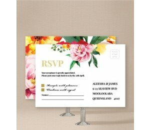 Bright Blooms Wedding Response Card