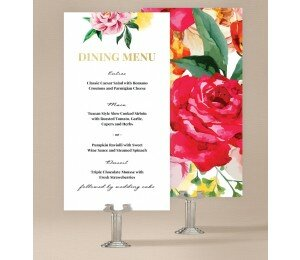 Bright Blooms Wedding Menu