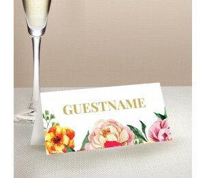 Bright Blooms Placecards
