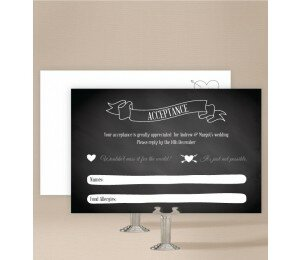 Chalkboard Wedding Response Card