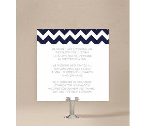 Chevron Wedding Wishing Well Card