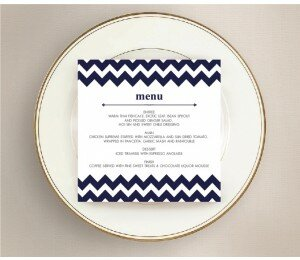 Chevron Wedding Menu