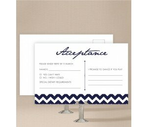 Chevron Wedding Response Card