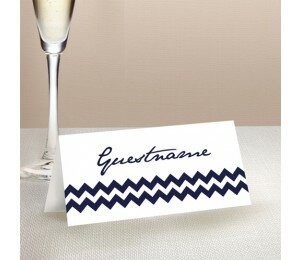 Chevron Wedding Place Card