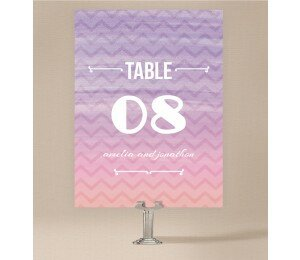 Colourful Mood Table Numbers