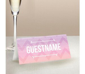 Colourful Mood Wedding Place Card
