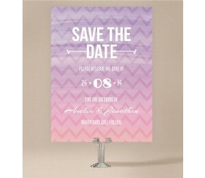Colourful Mood Save The Date Cards