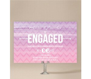 Colourful Mood Engagement Invitations