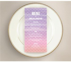 Colourful Mood Wedding Menu