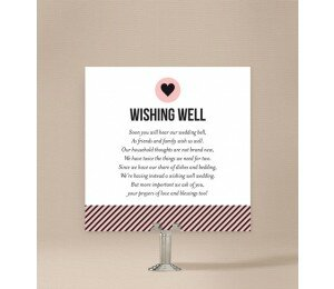 Cute Stripe Wishing Well Card