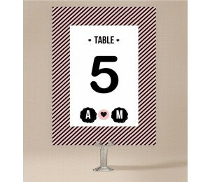 Cute Stripe Table Numbers