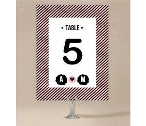 Cute Stripe Table Numbers