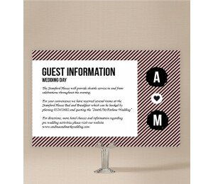 Cute Stripe Extra Information Card